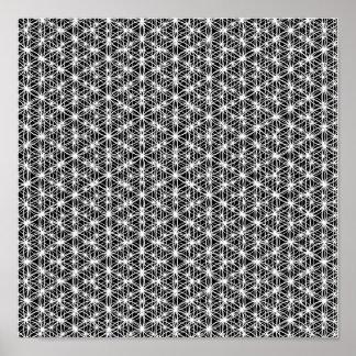 生命複雑な織り方#4の花 ポスター