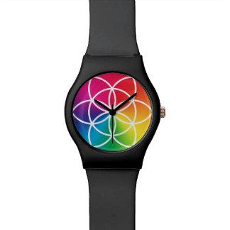 生命記号のチャクラの虹の種 腕時計