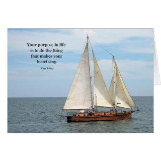 生命詩の写真のあなたの目的 グリーティングカード