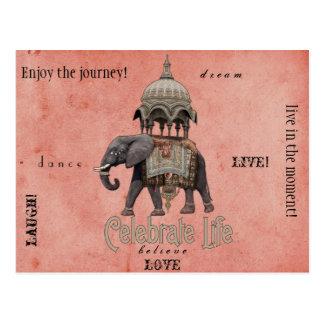 生命郵便はがきを祝って下さい ポストカード