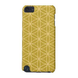 生命金ゴールドの大きいPtnの軽い金ゴールドの花 iPod Touch 5G ケース