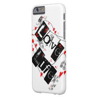 生命黒、赤、ハート、点の文字の電話箱を愛して下さい BARELY THERE iPhone 6 ケース