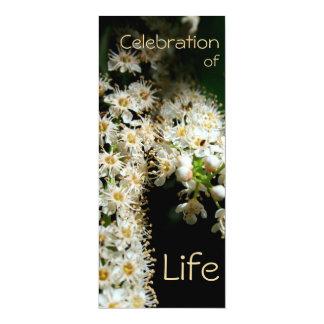 生命2招待状の花のお祝い カード