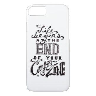"""""""生命@あなたの心地よい地帯の終わりを""""の引用文始めます iPhone 8/7ケース"""