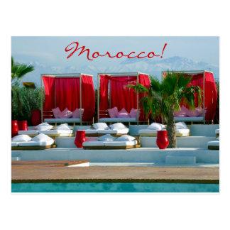 """""""生命""""である、モロッコの贅沢のプールサイド ポストカード"""