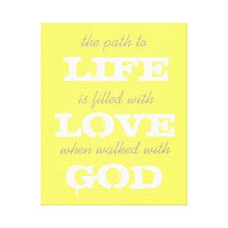 生命、愛、神 キャンバスプリント