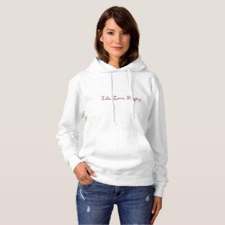 生命。 愛。 Blogging。 基本的な女性のフード付きスウェットシャツ パーカ