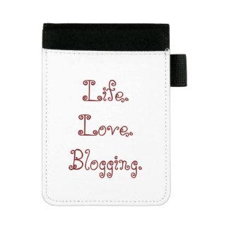 生命。 愛。 Blogging。 小型Padfolio ミニパッドフォリオ