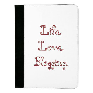 生命。 愛。 Blogging。 Padfolio パッドフォリオ