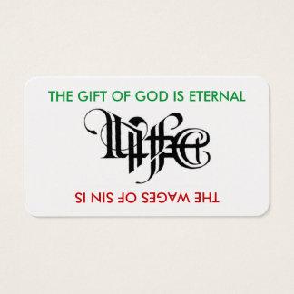 生命/死のAmbigramカード 名刺