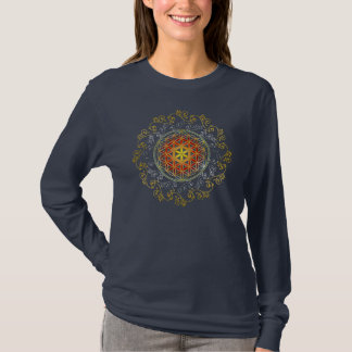 生命/Blume des Lebens -オーナメントの花IV Tシャツ