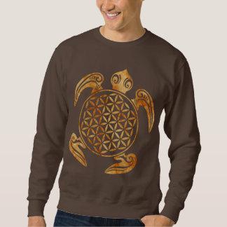 生命/Blume des Lebens -カメの石の花 スウェットシャツ