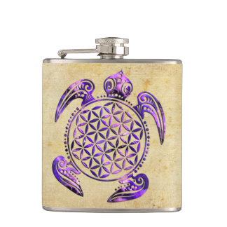 生命/Blume des Lebens -カメの紫色の花 フラスク