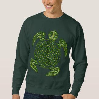 生命/Blume des Lebens -カメの緑の花 スウェットシャツ