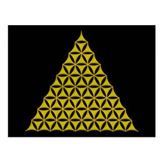 生命/Blume des Lebens -ピラミッドの金ゴールドの花 ポストカード