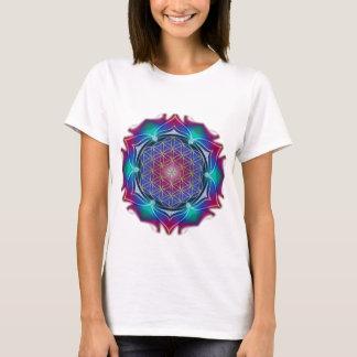 生命/Blume des Lebens -曼荼羅IVの花 Tシャツ