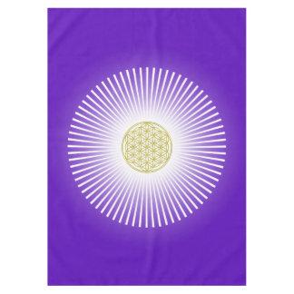 生命/Blume des Lebens -白い光線の花 テーブルクロス