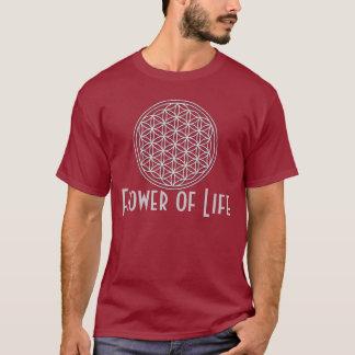 生命/Blume des Lebens -白の花 Tシャツ