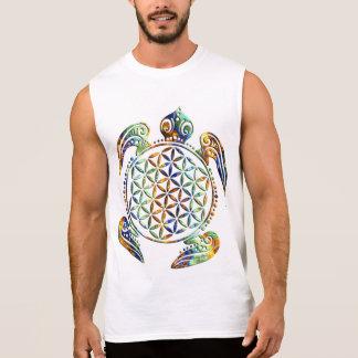 生命/Blume des Lebens -着色されるカメの花 袖なしシャツ