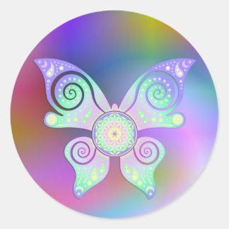 生命/Blume des Lebens -蝶の花 ラウンドシール
