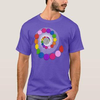 生命/Blume des Lebens -螺線形の点の花 Tシャツ