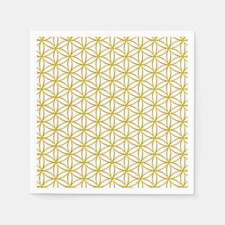 生命/Blume des Lebens -金ゴールドパターンの花 スタンダードカクテルナプキン