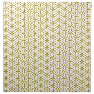 生命/Blume des Lebens -金ゴールドパターンの花 ナプキンクロス
