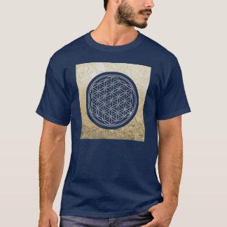 生命/Blume des Lebens -銀の花 Tシャツ