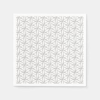 生命/Blume des Lebens -銀製パターンの花 スタンダードカクテルナプキン