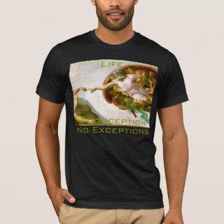 生命@Conception例外の妊娠中絶反対のTシャツ無し Tシャツ