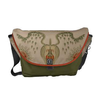 生命Haeckelの水生くらげ メッセンジャーバッグ