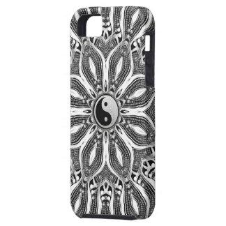 生命iPhone 5の場合の陰陽の花 iPhone SE/5/5s ケース