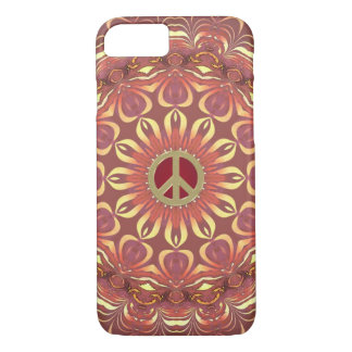 生命iPhone 7の場合のボヘミアの平和花 iPhone 8/7ケース