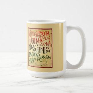 生命Kwanzaaの幸せなマグへの道 コーヒーマグカップ