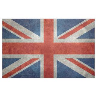 生地のイギリスの英国国旗 ファブリック