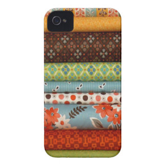 生地のボルト、かわいらしい綿のデザイン Case-Mate iPhone 4 ケース