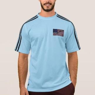 生地の効果米国の旗 Tシャツ