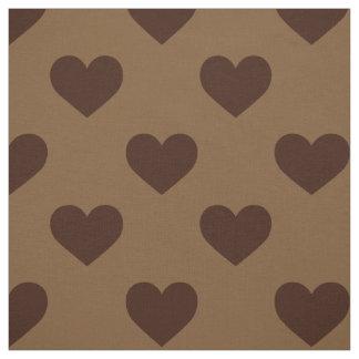 生地: チョコレート色のハート ファブリック
