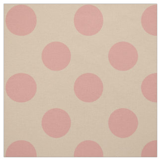 生地: ピンク及び淡いピンクの水玉模様 ファブリック