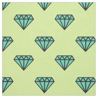生地: 青、真新しいダイヤモンドパターン ファブリック