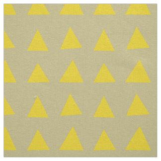 生地: 黄色い三角形パターンが付いている砂 ファブリック