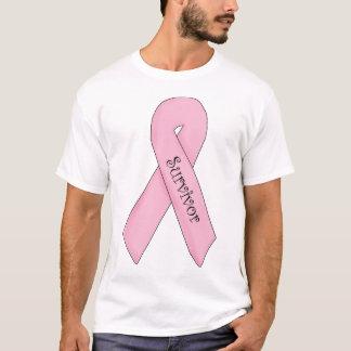 生存者のピンクのリボン Tシャツ