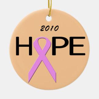 生存者の乳癌の生存者の希望のオーナメント セラミックオーナメント