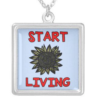 """""""生存""""純銀製のネックレスを始めて下さい シルバープレートネックレス"""