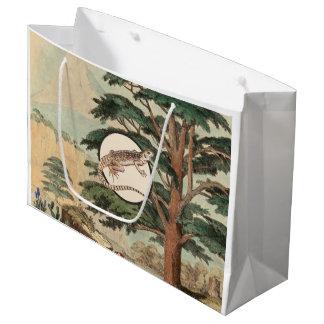 生息環境の絵のサバクイグアナ ラージペーパーバッグ