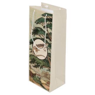 生息環境の絵のサバクイグアナ ワインギフトバッグ