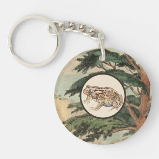 生息環境の絵のヒキガエル キーホルダー