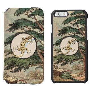 生息環境の絵の葉つま先で触られたヤモリ INCIPIO WATSON™ iPhone 5 財布型ケース