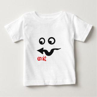生意気で小さくおもしろいな顔のデザイン ベビーTシャツ