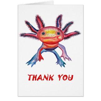 """生意気なアホロートルは""""""""カード感謝していしています カード"""